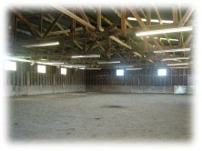 lighted indoor, all weather, riding arena